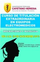 CURSO DE TITULACIÓN EXTRAORDINARIA EN EQUIPOS ELECTROMEDICOS