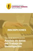 TALLER DE INVESTIGACIÓN: Análisis de datos del Trabajo de Investigación
